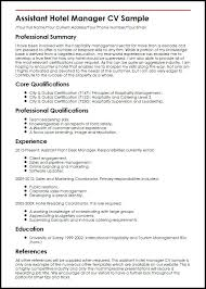 Hotel Manager Resume Samples Hotel Manager Resume Example Examples