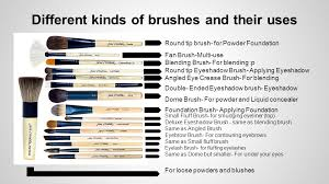 diffe kinds of brushes and their uses