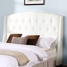 upholstered wingback headboard.  Upholstered Dorel Living Tufted Wingback Queen Headboard Oyster Intended Upholstered Headboard T