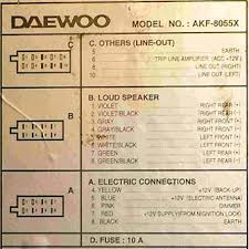 daewoo car radio stereo audio wiring diagram autoradio connector 2001 Daewoo Lanos Radio Wiring Diagram daewoo car radio stereo audio wiring diagram autoradio connector wire installation schematic schema esquema de conexiones stecker konektor connecteur cable 2001 daewoo nubira radio wiring diagram