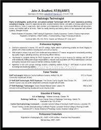 Resume For Radiologic Technologist Fascinating Sample Radiologic Technologist Resume With No Experience Best Of
