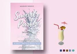 Summer Party Flyers – 39+ Free Psd, Ai, Vector Eps Format Download ...