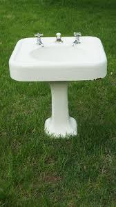 vintage bathroom pedestal sinks. Antique Cast Iron Enamel Bathroom Pedestal Sink And By CustomFound, $125.00 Vintage Sinks I