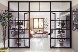 how to use glass partition walls to