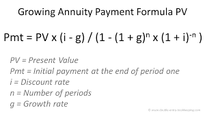 Growing Annuity Payment Formula Pv Double Entry Bookkeeping