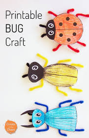 Free Craft Printables Templates Printable Bug Craft Create In The Chaos