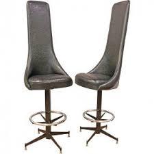 High back swivel bar stools