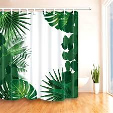 tropical leaf shower curtain modern tropical green leaves printed shower curtain friendly polyester bathroom curtains waterproof curtain for bath in shower