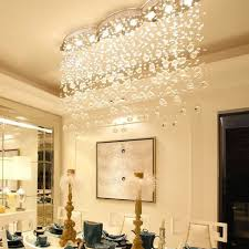led k9 crystal chandelier lights l129cm modern rain drop ceiling light fixtures