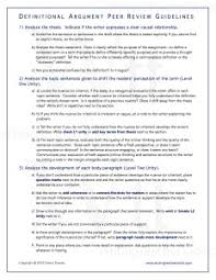 definitional essay writing teacher tools definitional essay peer review guidelines