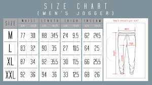Size Chart For Mens Joggers Aco Fashion Jogger Pants For Mens Plain Jogger Pants