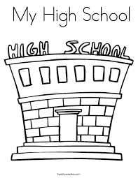 high school coloring pages