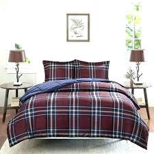 buffalo plaid flannel sheets tartan red and black ll bean