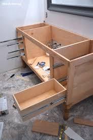 Build A DIY Bathroom Vanity Part  Making The Drawers - Bathroom diy