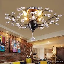 tree branch pendant lamps k9 crystal chandeliers light modern chandelier e14 110v 220v led ceiling light chandelier lighting fixture pillar candle