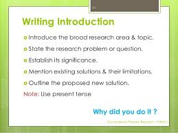How to write the dissertation            Writing Introduction
