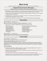 Project Engineer Resume Example Free Resume Examples