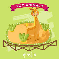zoo animals in cages clipart. Plain Zoo Vector  Zoo Animals Series Animal In A Cage Giraffe Illustration  Cartoon Character Animal With In Cages Clipart E