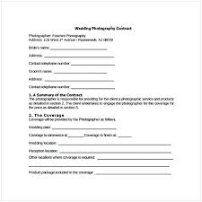 Wedding Photography Contract Form Wedding Photography Contract Pdf Cycling Studio