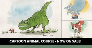 Drawing <b>Cartoon Animals</b> Course with Tim Hodge ON SALE!