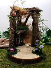 fairy garden house made from wood and