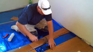 how to install a floating hardwood floor