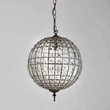 <b>Светильник</b> в виде шара с подвесками, haru стеклянный ...