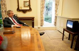 bush oval office. President Bush Watches Discovery Liftoff Oval Office C