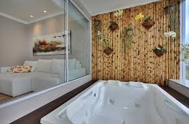 fabulous bamboo wall acts as the perfect backdrop for a tranquil soothing dip design