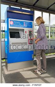 Ticket Vending Machine Las Vegas Beauteous Woman Buying A Ticket From A Vending Machine On The Tyneside Metro