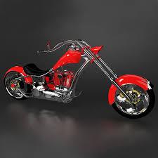 3d chopper motorcycle cgtrader