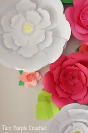 Diy Giant Paper Rose Flower Diy Giant Paper Flower Backdrop Two Purple Couches