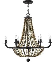 collection 6 light hanging antique bronze chandelier