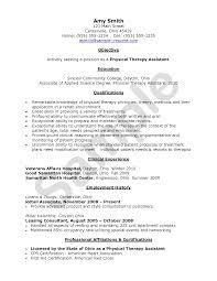 Sample Resume For Fresh Graduate Physical Therapist Resume
