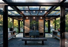 Glass House in the Garden modern-shed