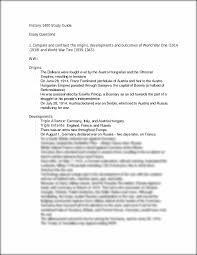 history study guide history study guide essay history 1400 study guide1 history 1400 study guide essay questions 1 compare and contrast the origins developments and outcomes of world war