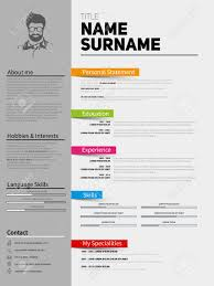 Minimalist Resume Resume Minimalist CV Template With Simple Design Company 45