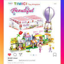 LG027] Đồ chơi lego mô hình đường phố hiện đại cho bé gái phát triển trí thông  minh tại Hà Nội