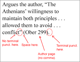 writing issues infopage citation punctuation