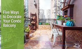 decorating your condo balcony