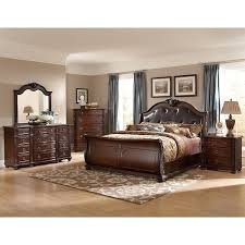 Shop Oakmont Manor Black Leather Tufted 5-Piece Marble Top Bedroom ...