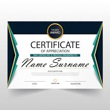 Certificate Of Recognition Template Free Download Certificate Of Appreciation Template Vector Free Download