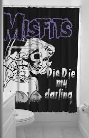 sourpuss misfits darling shower curtain