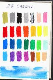 Color Chart Of Full Range 28 Color Set Of Crayola Oil