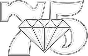 75 Jarig Diamanten Huwelijksjubileum Kleurplaat Gratis Kleurplaten