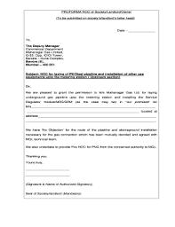 Noc Format Pdf Noc Certificate Format Doc Fresh Experience