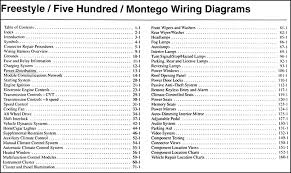 2005 freestyle, 500, montego wiring diagram manual original 2005 Ford Expedition Ignition Wiring Diagram covers all 2005 ford freestyle models including se, sel, and limited; all 2005 ford 500 models including se, sel, and limited; and all 2005 mercury montego 2005 ford expedition wiring diagram