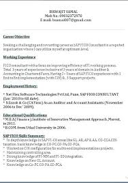 Sap Fico Sample Resume Unique Sample Resume With Sap Experience And Sap Resume Sap
