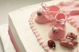Details Of A Decoration Of Birthday Cake For Little Baby Girl