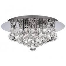 hanna flush crystal light for low ceilings
